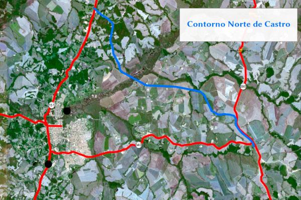 O Contorno Norte fará a ligação entre as rodovias PR-151 e PR-090 (Distrito Industrial I e II). Quando ficar pronto, vai desviar o tráfego pesado da cidade e trazer mais segurança para moradores e motoristas que circulam na região.