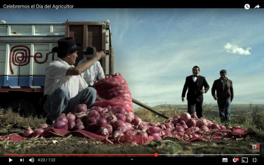 O video de sete minutos feito pelo Ministério da Agricultura do Peru, postado em 2016, faz homenagem aos produtores rurais.