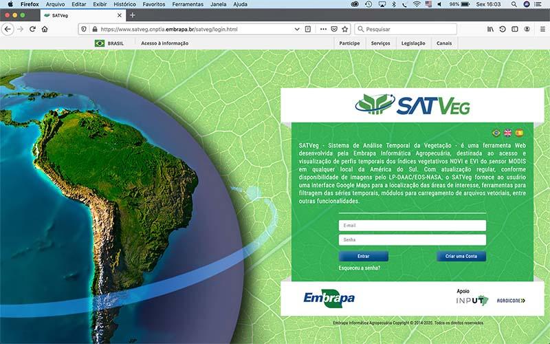 A tecnologia permite a observação de séries temporais de índices de vegetação por meio de imagens de satélite MODIS, oferecendo apoio a atividades de monitoramento agrícola e ambiental em toda a América do Sul.