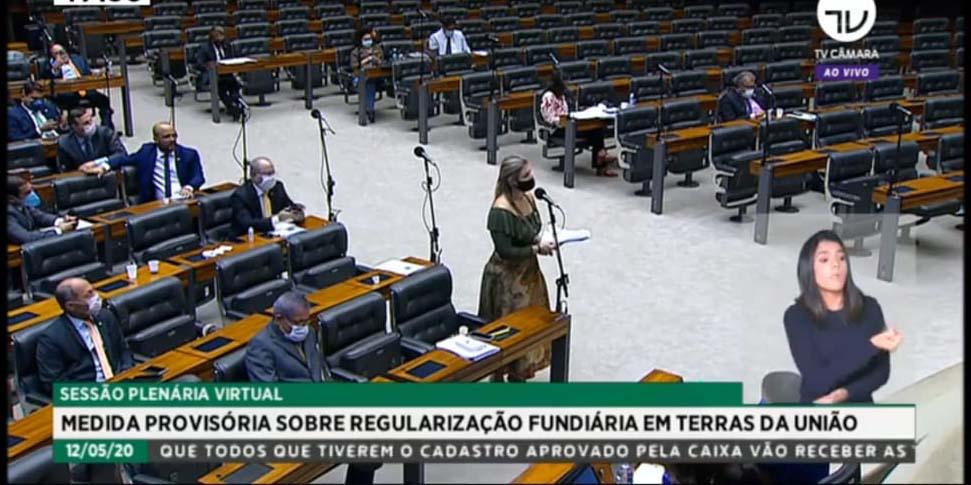Aline Sleujtes critica retirada da votação da MP 910 da pauta da Câmara dos Deputados