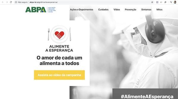 ABPA lança hotsite da campanha Alimente a Esperança